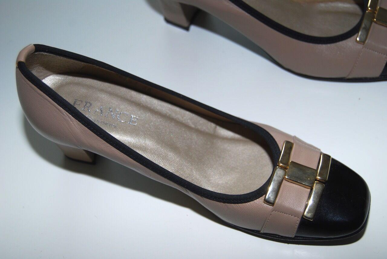 Descuento barato France Chaussures Paris Exklusive Pumps im CC Stil Gr  36 Beige Schwarz
