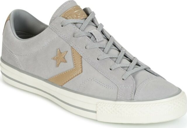 7463788c8fbd76 Converse Star Player Ox Mens Grey Suede Trainers - 10 UK