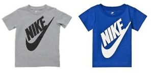 Nike-Garcons-Filles-Junior-Kids-Infant-ras-du-cou-en-coton-Casual-Sports-T-Shirt-Top-2-7-Ans
