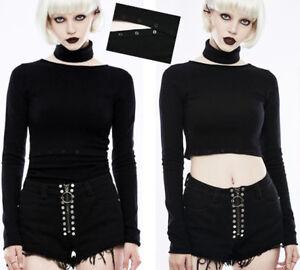 Maglione Mesh trasformabile punk Crop Top Fashion N Lolita Punkrave Soft gotico rXrxf