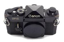 Vintage Canon F1 Black Camera Body With Working Meter Made in Japan Used
