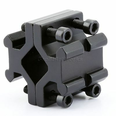 Double Weaver 20mm Barrel Rail Tube Scope Mount for Rifle Torch Laser Sight 1Pc