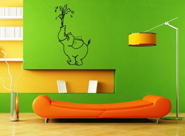 wall stickers vinyl decal circus elephant animal nursery funny