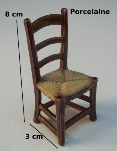 collection,meuble S11 maison de poupée chaise miniature en porcelaine vitrine