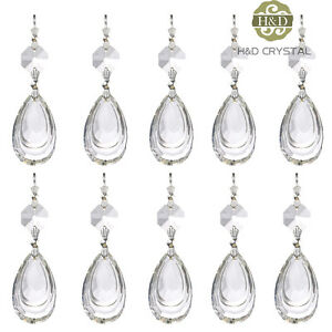 Clear Chandelier Glass Crystal Lamp Prisms Parts Hanging Water Drop Pendant 38mm