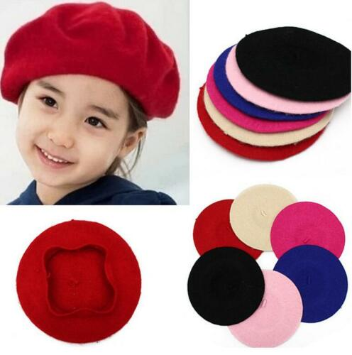 CHIC Girl Kid Children Wool Beret French Artist Warm Beanie Hat Winter Ski Cap H