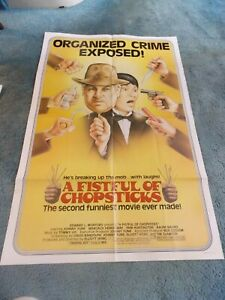 "A FISTFUL OF CHOPSTICKS(1982)JOHNNY YUNE ORIGINAL ONE SHEET POSTER 27""BY41"""