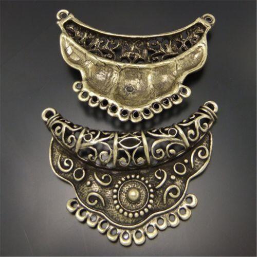 Antike Bronze Legierung Halb Mond Form Anschlüsse Anhänger Charme Handwerk 6 Stk
