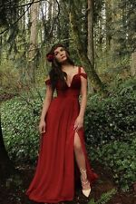 S Bariano Red Wine Formal Gown Lulus Ocean Elegance Maxi Bridesmaid Dress