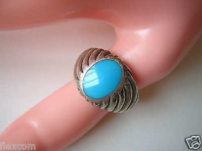 Precious Metal Without Stones Großer Ring Sterling Silber Mit Blauem Stein 7,9 G /rg 20,6 Mm Fine Jewelry
