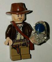 Lego Indiana Jones Minifigure With Crystal Skull 7196 7624 7627 7628