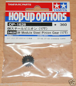 Tamiya-54628-08-Module-Steel-Pinion-Gear-17T-Fighter-Buggy-Mad-Bull-DT02-DT03