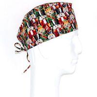 Christmas Wooden Nutcracker Theme Scrub Hat