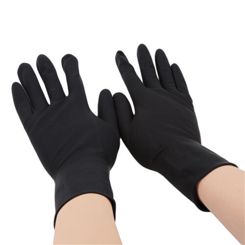 1 Pair Hairdressing Tools Rubber Hair Salon Wear-Resistant Pro Washing Gloves GA