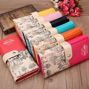 Womens-Floral-Printed-Leather-Clutch-Long-Wallet-Purse-Cash-Card-Holder-Handbag