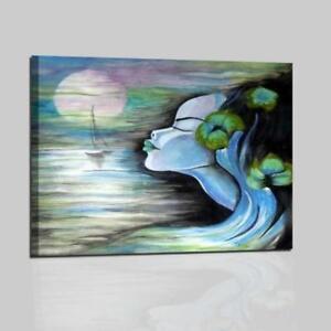 quadri moderni dipinti a mano volto di donna astratti olio