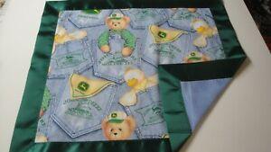 Bleu Jean Ourson Lovey-coton Fabric-gr8 4 Enfants-vert Satin Reliure Les Produits Sont Disponibles Sans Restriction
