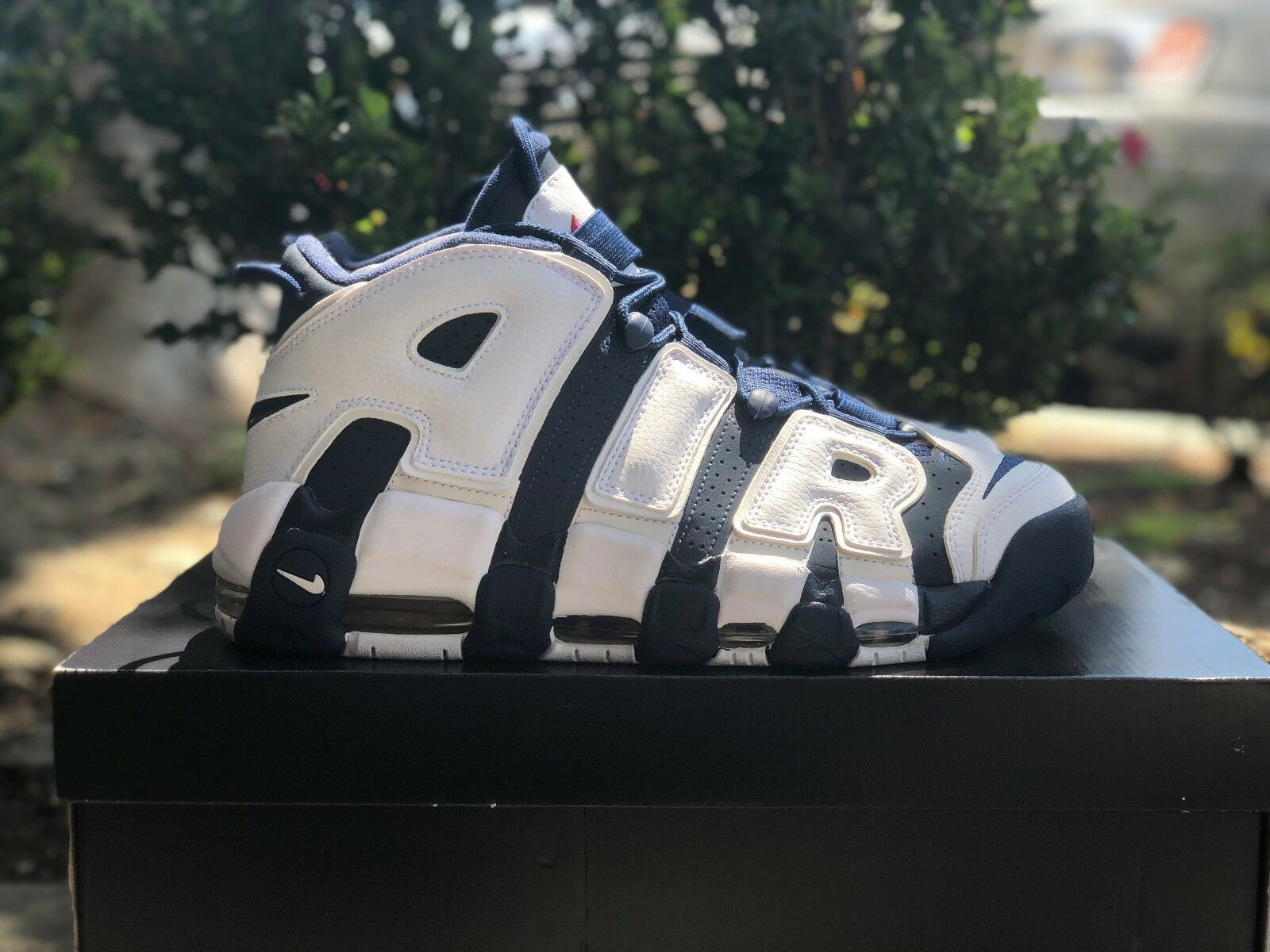 2012 NIKE AIR MORE UPTEMPO OLYMPIC sz:7.0?414962-401 Navy Blue/White