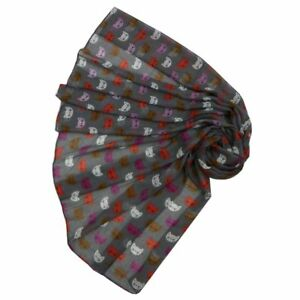 Cat-Scarf-Kitty-Cats-Faces-Coloured-Printed-NEW-Design-Ladies-soft-fashion-UK