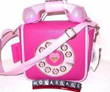 Betsy Johnson Hot Pink Rhinestone Working Telephone Crossbody Bag New NWT
