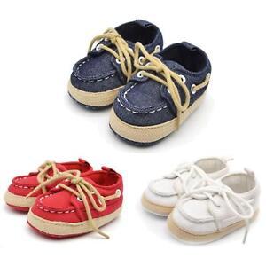 Bebe-infantile-enfant-en-bas-age-garcon-fille-Semelle-Souple-Chaussures-creche