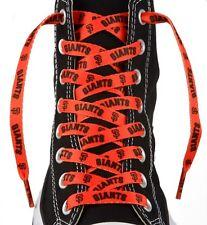 "MLB San Francisco SF Giants Logo Colors 54"" Shoe Laces One Pair Shoe Strings"