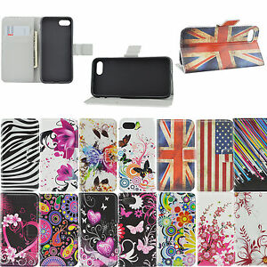 best authentic 71e6c b0f64 Women Men Stand Flip PU Leather Cover Wallet Case for iPhone 8 Plus ...