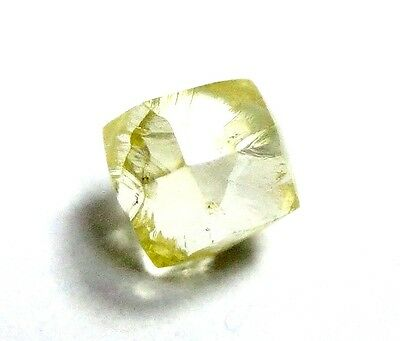 0.63 Carats FANCY Canary YELLOW Cuttable DODECAHEDRON Natural Rough Diamonds