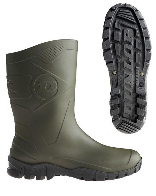 Dunlop DEE Kurzstiefel oliv Gummistiefel Stiefel für Gartenarbeit Gassirunde