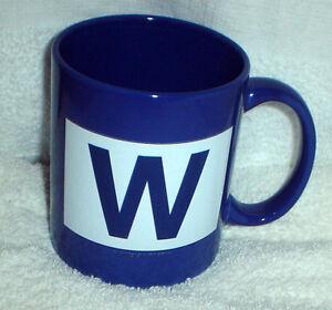 CHICAGO CUBS Wrigley Field W WIN Flag Logo COFFEE MUG NEW OFFICIAL ... 700330838944