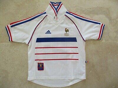Maillot FRANCE 98 ZIDANE COUPE DU MONDE ADIDAS vintage shirt blanc away 10 ans | eBay