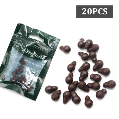 20PCS Carp Fishing Method Feeder Quick Change Beads Soft Super Small Helicopter