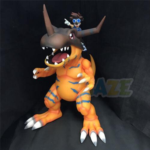 Digimon Adventure Greymon /& Yagami Taichi Lackierte Figur Modell Spielzeug