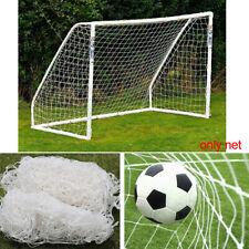 24x8ft Football Full Size Soccer Goal Post Net Straight Flat Sport 7.3x2.4m OR