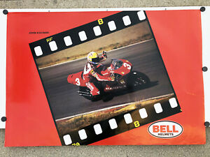 Vintage 1994 JOHN KOCINSKI GP500 CAGIVA Racing Team Bell Helmets Poster GP