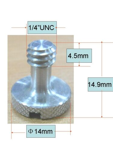 "100x longer 14"" unc camera screw for Quick Release plate and tripod DSLR"