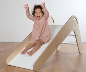 Kinderrutsche VIVA aus Holz Farbe Natur/Weiß | eBay
