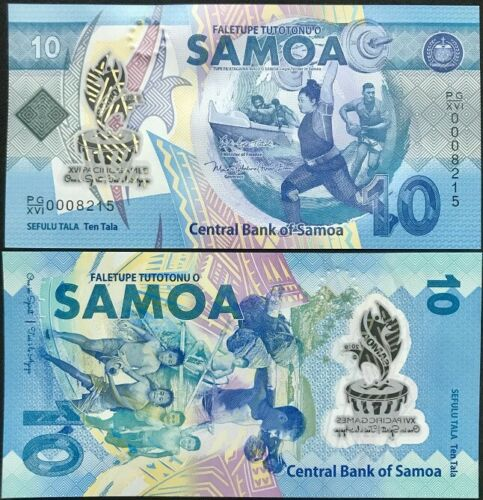 XVI PACIFIC TDLR 2019 POLYMER P NEW UNC SAMOA 10 TALA COMM