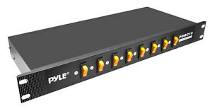 Pyle-Pro-PDBC10-8-Outlet-Rack-Mount-Power-Supply-Center-w-Each-Outlet-Switch