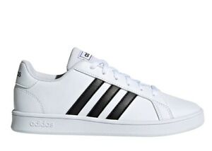 Adidas-GRAND-COURT-K-EF0103-Bianco-Scarpe-Donna-Bambini-Sneakers-Sportive