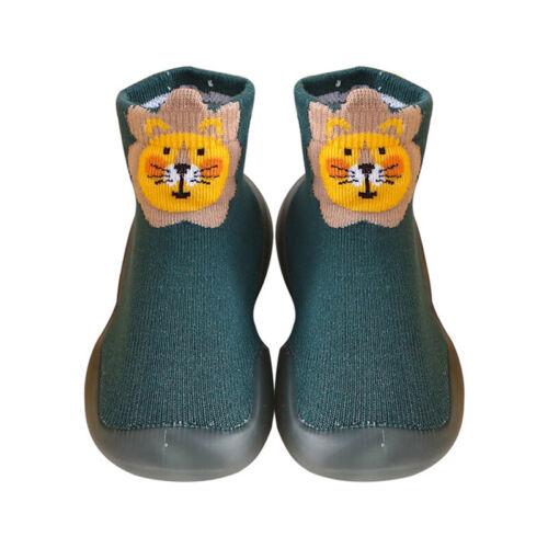 Girls Boys Cute Animal Print Flat Sock Shoes Toddler Kids Anti-skid Rubber Boots