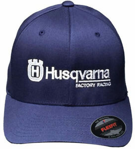 Husqvarna Logo Hat with GP Motorcycles Logo on Back, S/M