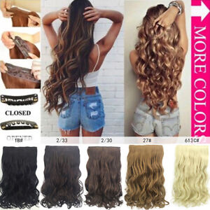 PW-BL-50cm-Women-Curly-Wavy-Clip-In-Hair-Extension-Cosplay-Synthetic-Hairpie