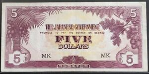 JIM Japanese Occupation Malaya $5 MK vf (2)