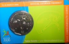 Table Tennis 2006 XVIII Melbourne Commonwealth Games 50 Cent Coin