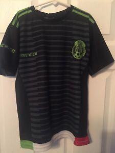 finest selection 05176 d6a38 Details about Mexico Soccer Jersey - Replica - Boy's size 6 -Tricolor -  Black