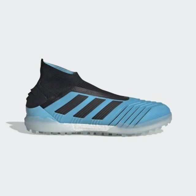 Adidas Predator 19+ Tf Mens Turf Soccer Shoe Bright CyanBlack F35625 Tango NEW!
