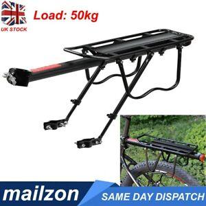 Alloy Bicycle Rear Rack Bike Carrier Bracket Pannier Luggage Bag Holder Seat UK