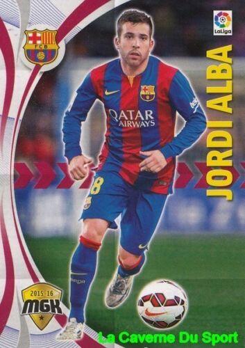 066 JORDI ALBA ESPANA FC.BARCELONA CARD MGK LIGA 2016 PANINI