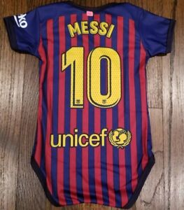 size 40 c060d b42c2 Details about New Barcelona Messi #10 baby Jersey mameluco bebe